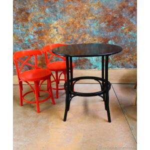 Венский стол №2 чёрная эмаль